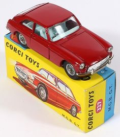 Corgi Toys 327 MGB GT. I had one of these as a kid. One of my all-time favorite toys.