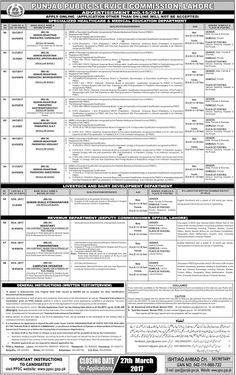 Punjab Public Service Commission Jobs March -2017  Career opportunity of latest Jobs vacancies in PPSC Jobs in Punjab Public Service Commission. Candidates are required to download PPSC Challan form and apply online.  Doctors Jobs in PPSC Jobs  Senior Registrar Pediatric Cardiology  Senior Registrar Pediatric Gastroenterology  Senior Registrar Pediatric ENT  Senior Registrar Pediatric Ophthalmology  Senior Registrar Pediatric Anesthesia  Senior Registrar Pediatric Urology  Senior Registrar…
