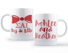 Big and Little // Sigma Alpha Iota // ΣΑΙ // 11 Ounce Sorority Coffee Mug by UptownGreek on Etsy https://www.etsy.com/listing/231447376/big-and-little-sigma-alpha-iota-sai-11