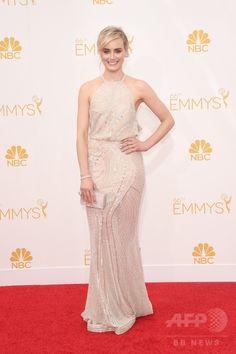 第66回プライムタイム・エミー賞(Primetime Emmy Awards)のレッドカーペットに登場した女優テイラー・シリング(Taylor Schilling、2014年8月25日撮影)。(c)AFP/Getty Images/Jason Merritt ▼26Aug2014AFP|【写真】第66回エミー賞のレッドカーペット http://www.afpbb.com/articles/-/3024084