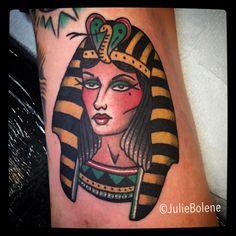 cleopatra tattoo by Julie bolene