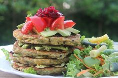 Zucchini, Herb & Chickpea Fritters