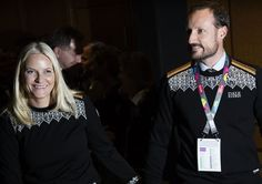 Crown Princess Mette Marit and Crown Prince Haakon of Norway and Princess Ingrid Alexandra and Prince Sverre Magnus attended the opening of the Lillehammer 2016 Youth Olympic Games in Norway on February 12, 2016.