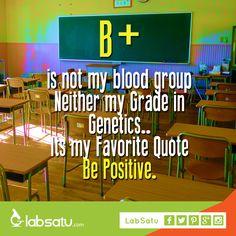 B+ is not about blood type or grade in genetics!  Be positive and have a nice day! #LabSatu #quote #science #laboratory #jualalatlaboratorium #jualalkes #ecommerce =============== Butuh alat Lab & Kesehatan?? Ke LabSatu aja! ^^d  Langsung kunjungi https://www.labsatu.com ya!