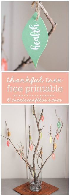 Thankful Tree with Free Printable is part of Thanksgiving crafts For Nursing Home - This Thankful Tree with Free Printable is a wonderful way to teach kids to count their blessings! Thanksgiving Tree, Thanksgiving Traditions, Christmas Traditions, Thanksgiving Projects, Family Tree For Kids, Trees For Kids, Fall Crafts, Holiday Crafts, Crafts For Kids