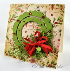 Christmas Wreath and Sparkles by kittie747 - Cards and Paper Crafts at Splitcoaststampers