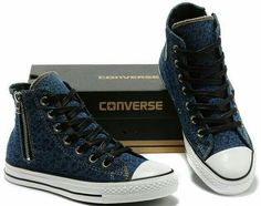Converse Chuck Taylor All Star Violet Leopard Side Zipper High Tops Canvas Shoes - New Shoes Styles & Design Converse All Star, Cool Converse, Outfits With Converse, Converse Sneakers, Converse Chuck Taylor All Star, High Top Sneakers, Vans, Cute Shoes, Me Too Shoes