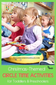 When planning your December lesson plans, make sure to add some of these Christmas circle time activities. A fun collection for toddlers and preschoolers! #Christmas #circletime #holidays #music #teachers #classroom #earlychildhood #preschool #toddler #teaching2and3yearolds