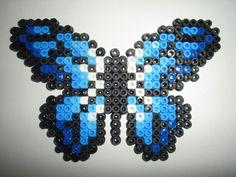 Papillon bleu Perles à repasser - Création réalisée par : isabelle8119