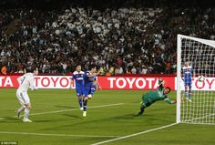 Gareth Bale heads #realmadrid into a comfortable three-goal lead after connecting with a Cristiano #Ronaldo cross.