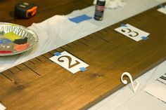 DIY growth chart (she has templates for the lines and numbers)