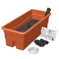 EarthBox Junior Garden Kit- The same quality, technology and wonderful results as the original EarthBox in a new smaller size! Perfect for urban gardeners, window box planter, indoor gardening and more. $24.99