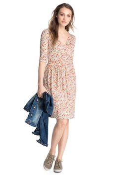 Esprit : Vestido de jersey elástico + efecto cruzado en la Online-Shop
