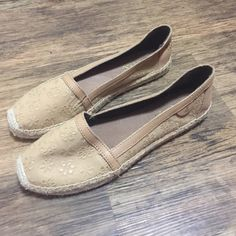Sperry Top Sider flats NWOT, never worn outside. No marks of any kind anywhere on the shoe. Size 7.5. Tan in color with flower accents. Sperry Top-Sider Shoes Flats & Loafers