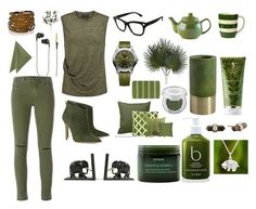 """""""Army green"""" by projectalice5 on Polyvore featuring J Brand, By Malene Birger, Sif Jakobs Jewellery, Kreafunk, Valentino, Victorinox Swiss Army, Gianvito Rossi, Price & Kensington, Pier 1 Imports and Décor 140"""