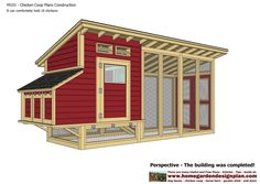 M101 - Chicken Coop Plans Construction - Chicken Coop Design - How To Build A Chicken Coop It can comfortably hold 18 chickens ... U...