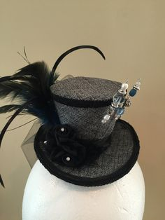 Mini Top Hat, Steampunk, Mad Hatter, Bridal Shower, Cosplay, Costume, Victorian, Fascinator, Birthday Pictures