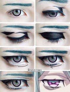 47 Trendy Ideas For Eye Anime Tutorial Cosplay Makeup Anime Eye Makeup, Anime Cosplay Makeup, Fx Makeup, Doll Eye Makeup, Makeup Tips, Anime Make-up, Anime Eyes, Cosplay Makeup Tutorial, Cosplay Diy