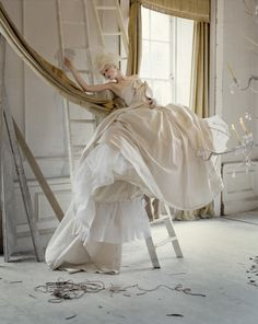 Stella Tennant photographed by Tim Walker for Vogue Italia. 'Lady Grey', March…