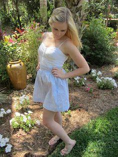Devon Alana Design: Seersucker Skirt with Zipper
