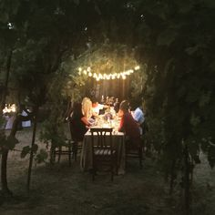 Intimate meal with family at a villa near Florence, Italy