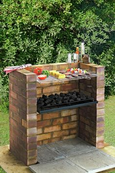 """Fantastic """"built in grill diy"""" detail is available on our site. Read more and you wont be sorry you did. Diy Grill, Clean Grill, Backyard Bbq, Large Backyard, Brick Grill, Brick Built Bbq, Parrilla Exterior, Charcoal Bbq, Built In Grill"""