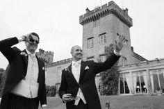 """Where Fairytale Weddings come alive"" Dromoland Castle's magnificent Renaissance structure was b. Fairytale Weddings, Real Weddings, West Coast, Getting Married, Cool Pictures, Ireland, Irish, Groom, Castle"