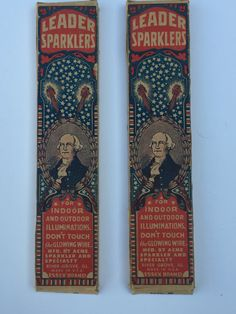 Two Boxes of Vintage Leader George Washington Sparklers by SeriouslyVintageAZ on Etsy