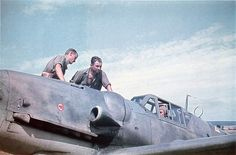 Bf 109 vadászrepülő.
