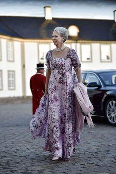 HRH Princess Benedikte arrives at Fredensborg Palace. Greek Royalty, Danish Royalty, Adele, Evening Dresses, Formal Dresses, Long Dresses, Fashion Artwork, Danish Royal Family, Royal House