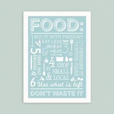 Print for the kitchen.