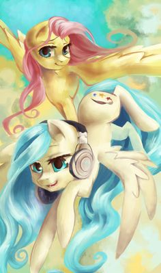 Fluttershy and OC