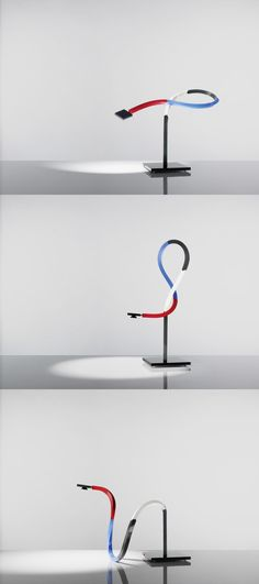 Ingo Maurer Und Team Zufall Lamp - The silicone arm can be formed flexibly. Complete with bulb. Ingo Maurer, Lucet, Corian, Lamp Light, Lighting Design, Lamps, Furniture Design, Bulb, Sculpture