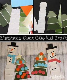 Christmas Paint Chip kid craft #kidcraft #paintchip #christmas (lizoncall.com)
