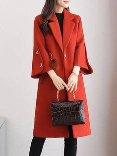Buy Coats For Women from Sicily at StyleWe. Online Shopping Solid Long Sleeve Ca. - Buy Coats For Women from Sicily at StyleWe. Online Shopping Solid Long Sleeve Casual Coat, The Best - Stylish Winter Coats, Stylish Coat, Winter Coats Women, Long Winter Coats, Iranian Women Fashion, Mode Mantel, Winter Mode, Winter Stil, Trench Coats