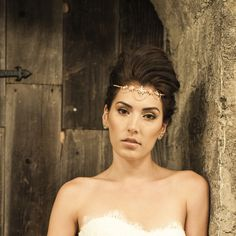 Boho Bridal Headband Bridal Hairband Bohemian Bridal Headpiece