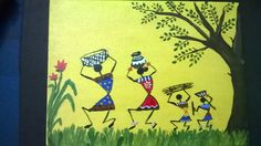 A simple Warli painting on canvas.