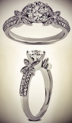 #Butterfly #Diamond #Engagement #Ring