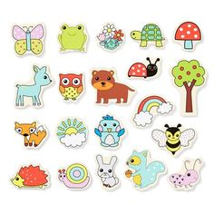 Wooden Magnetic Animals - Pack of 20