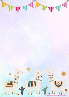 Free Templates for Birthday Invitations Fresh Free Llama Birthday Invitation Templates Invitation Card Birthday, Birthday Card Template, Birthday Invitations Kids, Free Printable Invitations Templates, Templates Free, Free Printables, Scrapbook Bebe, Llama Birthday, Cactus