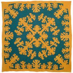 vintage Hawaiian Applique Quilt at 1stdibs