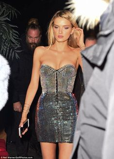 Flawless! Lily Donaldson made a showstopping appearance in a sexy sequinned mini dress - lingerie, french, elegant, hot, cheap, femme lingerie *ad