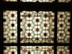 Sullivan Old Stock Exchange stained glass ceiling