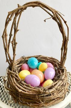 Primitive Rustic Twig Basket old handmade branch by designfrills