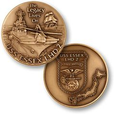 """U s Navy USS Essex LHD 2 """"The Legacy Lives on"""" USN Challenge Coin   eBay"""
