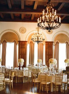 Elegant gold and cream reception