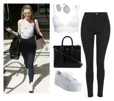 """""""Perrie Edwards Style"""" by monikaps ❤ liked on Polyvore featuring Topshop, No Name, Yves Saint Laurent and Full Tilt"""