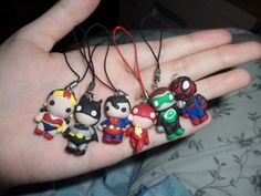 Superhero clay charms! by ~Jounin-SZ