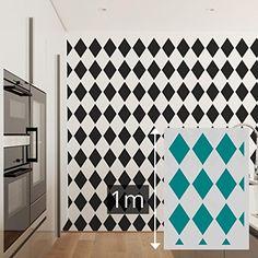 Pochoir xl g ant mural 100 x 70 cm formes g om triques for Pochoir mural xxl