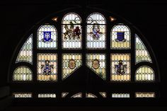 The stained glass window located on our stairs is a stunning piece of history. From beautiful emblems and dates celebrating 50 years of Queen Victoria's reign, to inscriptions telling the story of the royal opening. It's well worth coming down to take a look. #trowbridge #wiltshire #stainedglass #QueenVictoria #historicaltrowbridge #townhall Victoria Reign, Queen Victoria, Town Hall, Stained Glass Windows, Big Ben, Dates, Stairs, History, Building